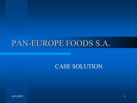euroland foods s a case analysis Case analysis: euro land foods sa case solution financing with a euro bond euroland foods, sa foulke consumer products case analysis hightower department.