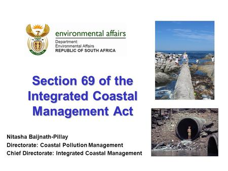 Section 69 of the Integrated Coastal Management Act