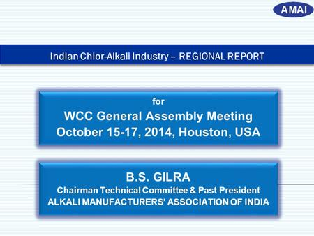 WCC General Assembly Meeting October 15-17, 2014, Houston, USA