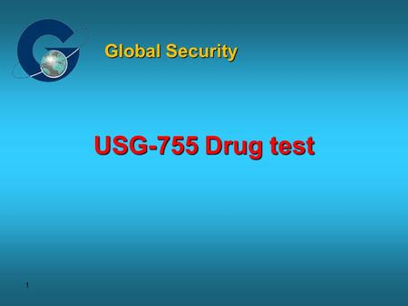 1 USG-755 Drug test Global Security. 2 For easy roadside drug testing DrugWipe 5+ is the enhanced version of the proven saliva test. Featuring an integrated.