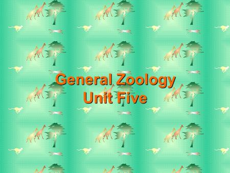 General Zoology Unit Five