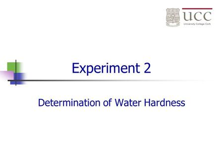 Determination of Water Hardness