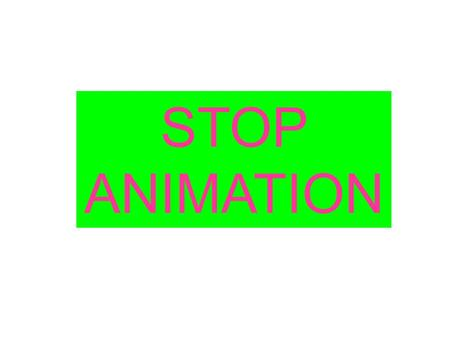 STOP ANIMATION. STOP ANIMATION: The original technique used to create an animated sequence. Each frame is created and photographed (or digitized) independently.
