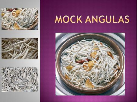 -400gr of mock angulas.  -5 cloves garlic.  -1 chili pepper.  -Olive oil.