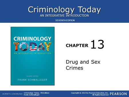 13 Drug and Sex Crimes.