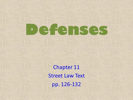 Chapter 11 Street Law Text pp