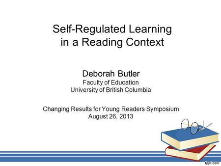 <strong>Self</strong>-Regulated Learning in a Reading Context