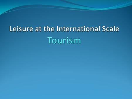 social and economic significance of tourism