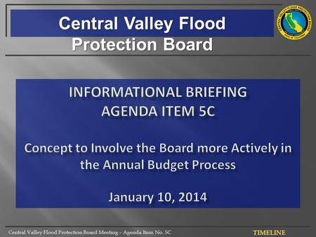Central Valley Flood Protection Board Meeting – Agenda Item No. 5C Central Valley Flood Protection Board.