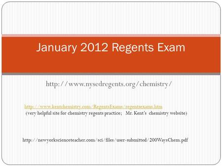 (very helpful site for chemistry regents practice; Mr