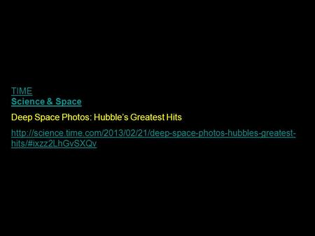 TIME Science & Space Deep Space Photos: Hubble's Greatest Hits  hits/#ixzz2LhGvSXQv.