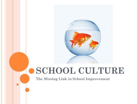 SCHOOL CULTURE The Missing Link in School Improvement.