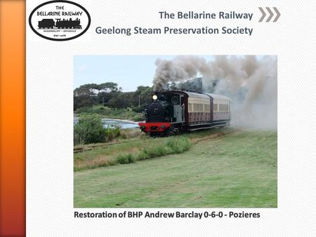 The Bellarine Railway Geelong Steam Preservation Society The Blues Train at Suma Park - Feb 2013.