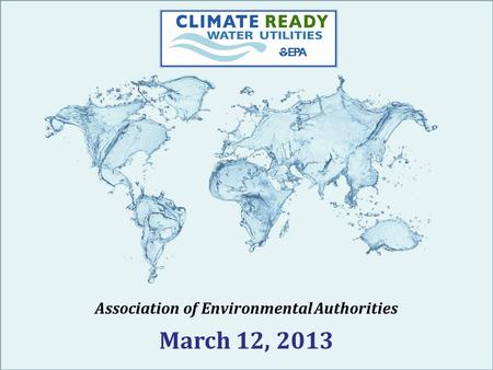 Association of Environmental Authorities March 12, 2013.