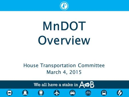 House Transportation Committee March 4, 2015. Mark Gieseke, Director MnDOT Office of Transportation System Management.