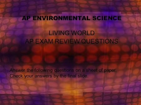 ap environmental science practice essays