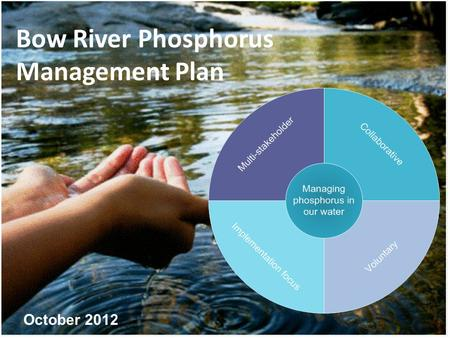 Bow River Phosphorus Management Plan October 2012.