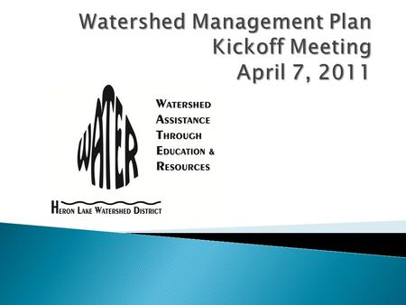 7:00 pmWelcome and introductions 7:05pmHLWD planning overview Plan update process 7:25 pmStakeholder involvement Watershed problems 7:40 pmPublic comment.