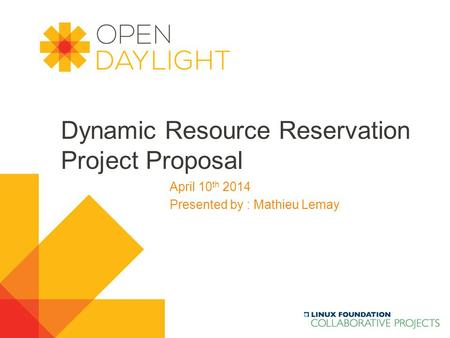 Dynamic Resource Reservation Project Proposal