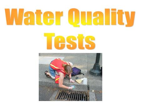 Water Quality Tests.
