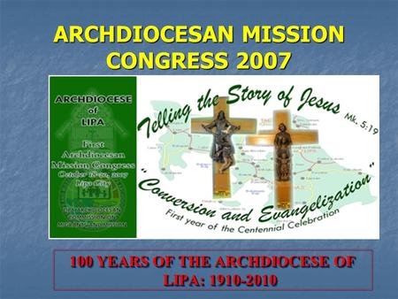 ARCHDIOCESAN MISSION CONGRESS 2007