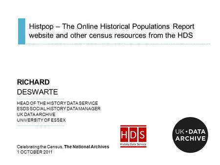 Histpop – The Online Historical Populations Report website and other census resources from the HDS ……………………………………………………….………………………………..................................................................................................