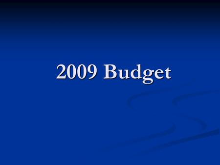 2009 Budget. Objective Add 12 additional families over 3 years Add 12 additional families over 3 years Build Holy Trinity's profile within local community.