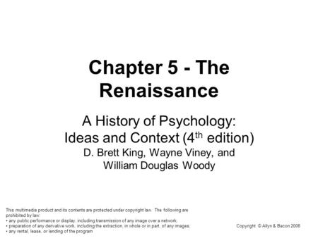 a history of psychology in the middle ages The medieval period -- roughly the 1,000 years from the classical greco-roman age to the renaissance and modern era -- has long been neglected in the history of psychology.