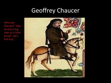 geoffrey chaucer essays Critical essays & analysis of the canterbury tales by geoffrey chaucer.