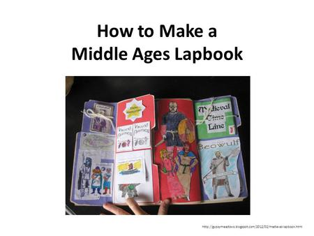 How to Make a Middle Ages Lapbook