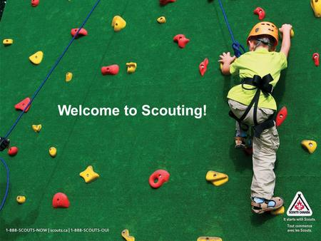 Welcome to Scouting!. 1-888-SCOUTS-NOW | scouts.ca | 1-888-SCOUTS-OUI What have I gotten myself into? Scouting is a worldwide youth movement with: Over.