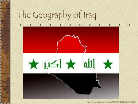 The Geography of Iraq