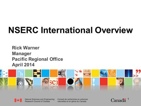 NSERC International Overview
