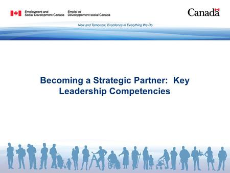 Becoming a Strategic Partner: Key Leadership Competencies.