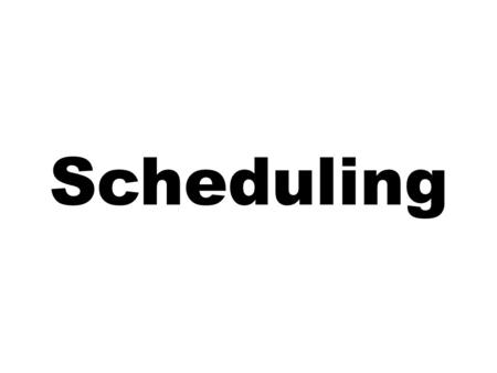 Scheduling. Learning Objectives Explain what scheduling involves and the importance of good scheduling. Discuss scheduling needs in high-volume and intermediate-volume.