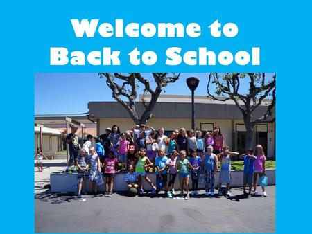 Welcome to Back to School Night!. Introductions I grew up in Carlsbad. I went to college at Sonoma State University. I have a 16 th month old son, Landon,