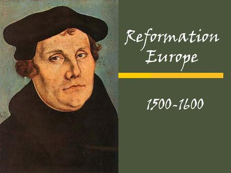 Reformation Europe 1500-1600. Catholic Church Hierarchy:
