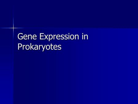 Gene Expression in Prokaryotes. Why regulate gene expression? It takes a lot of energy to make RNA and protein. It takes a lot of energy to make RNA and.