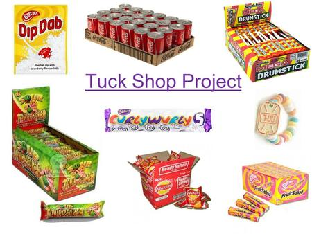 Tuck Shop Project. Your task: You are going to set up a tuck shop. You will be given a £40 start-up budget, and you must choose how to spend it. Use the.