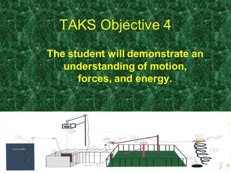 TAKS Objective 4 The student will demonstrate an understanding of motion, forces, and energy.