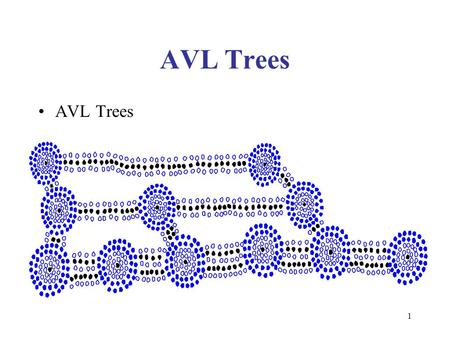1 AVL Trees. 2 AVL Tree AVL trees are balanced. An AVL Tree is a binary search tree such that for every internal node v of T, the heights of the children.