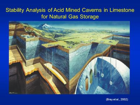 Stability Analysis of Acid Mined Caverns in Limestone for Natural Gas Storage (Bray et al., 2002)