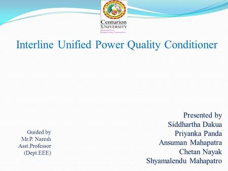 Interline Unified Power Quality Conditioner
