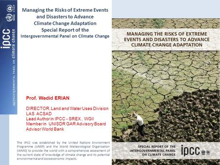 Managing the Risks of Extreme Events and Disasters to Advance