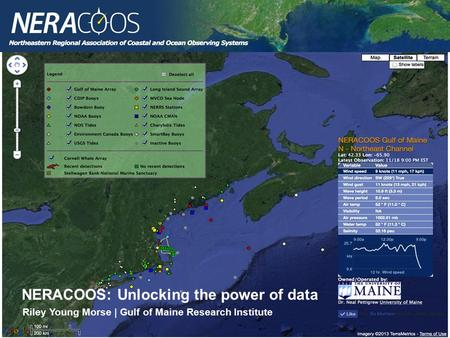 NERACOOS: Unlocking the power of data Riley Young Morse | Gulf of Maine Research Institute.