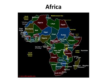 Africa. 1.Africa is the second largest continent, making up around 20% of the earth's land mass. 2.Africa is the second-most populous continent with a.