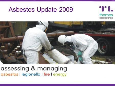 Asbestos Update 2009. Introduction Update on latest statistics HSE Awareness Campaign Target Audience Changes for 2009 MDHS100 Revisions Social Housing.