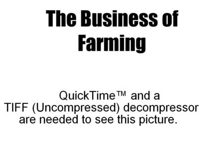 The Business of Farming