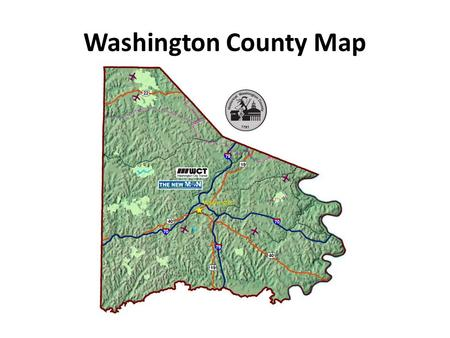 Washington County Map. 1. What is the title of this map? Washington County Pennsylvania Highway Map.