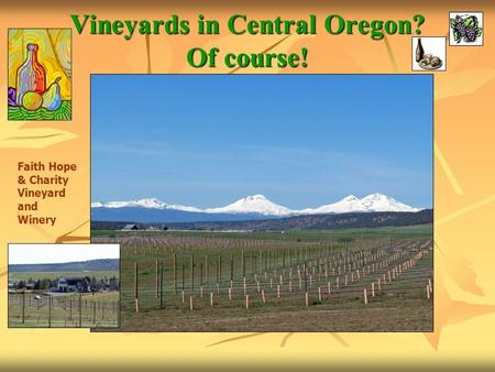 Vineyards in Central Oregon? Of course! Faith Hope & Charity Vineyard and Winery.